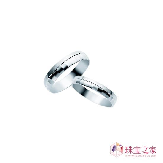 18K白色及玫瑰色黄金钻石戒指 18K白色黄金钻石戒指