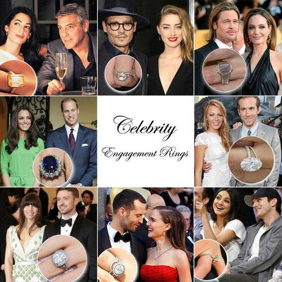 20款令人羡慕的好莱坞明星钻石订婚戒指