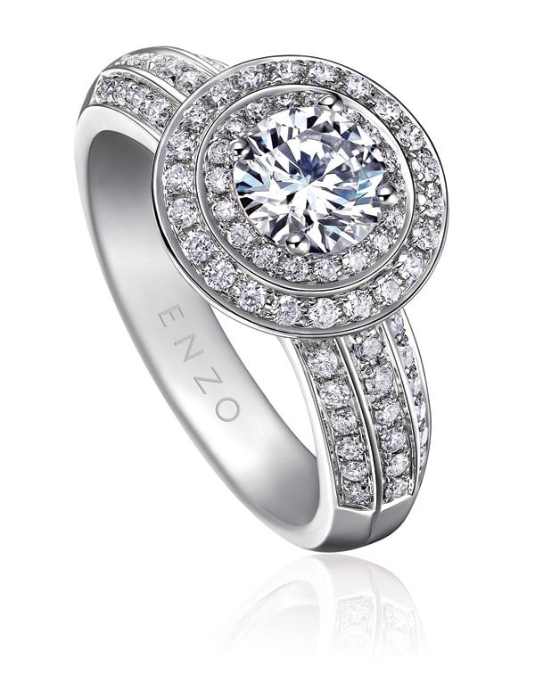 "ENZO SHOWY炫耀系列 情人节给她更""大""的爱意3钻石戒指"