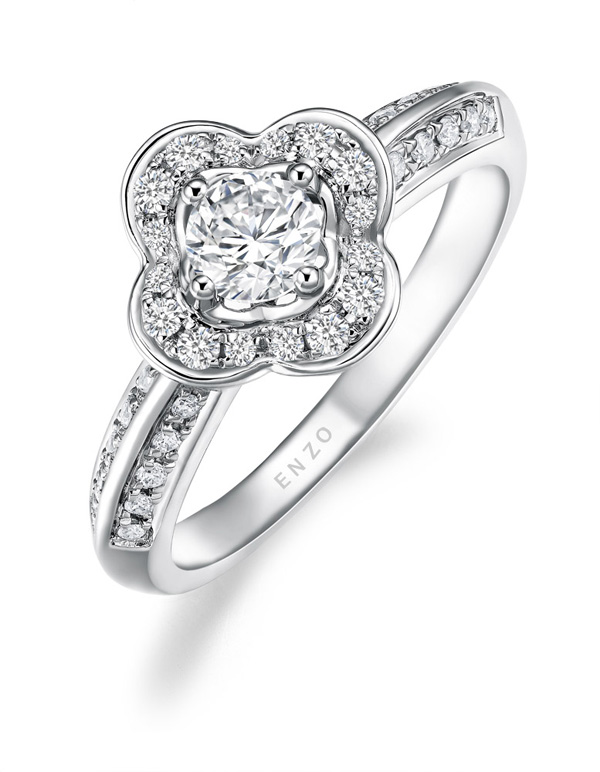 "ENZO SHOWY炫耀系列 情人节给她更""大""的爱意4钻石戒指"