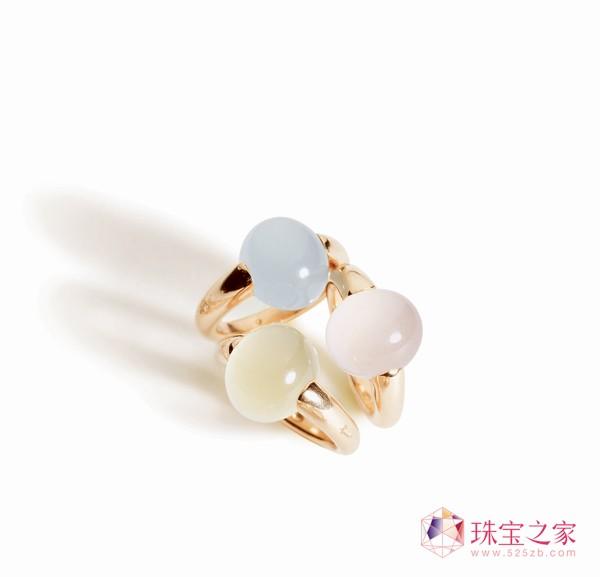 Luna系列戒指,乳色海蓝宝RMB18,500