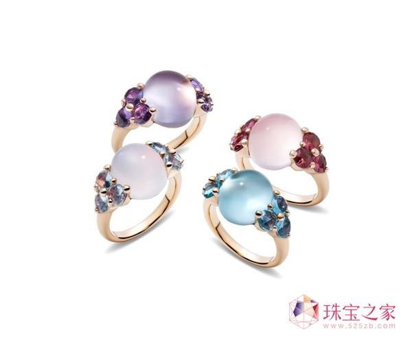 Luna系列戒指,玫瑰金镶紫晶