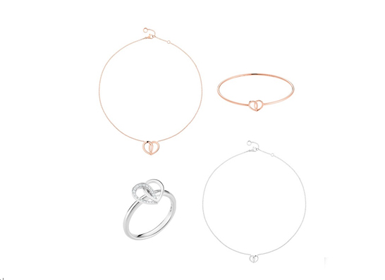 万宝龙Coeur de PétalesEntrelacés心形花瓣系列高级珠宝