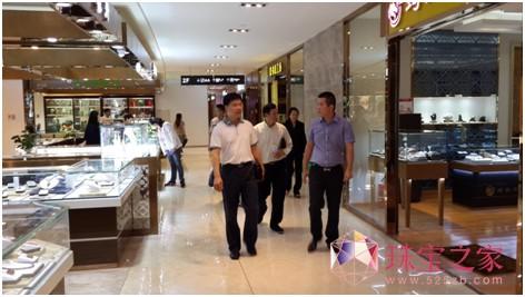 余福泰国际珠宝广场迎来武汉市文化旅游局考察团参观指导!2