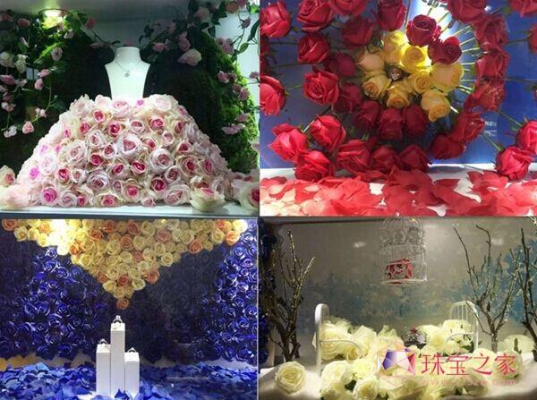 四季主题橱窗:春 • 灵动复苏�� 夏 • 炫彩绽放�蚯� • 吻之浪漫�蚨� • 红蕴生机
