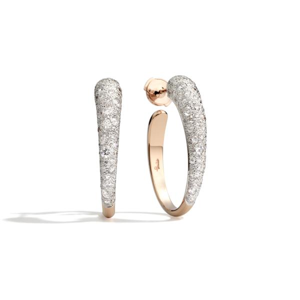 Tabou系列戒指 玫瑰金镶白色托帕石