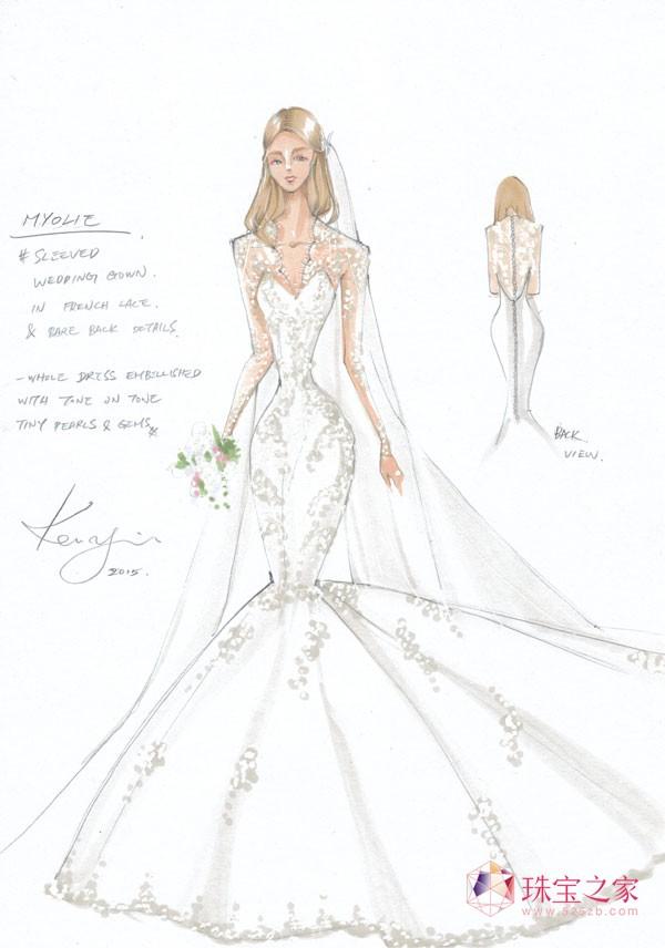 宝仕奥莎与婚纱晚装品牌Kevolie联手打造知名影星胡杏儿完美嫁衣