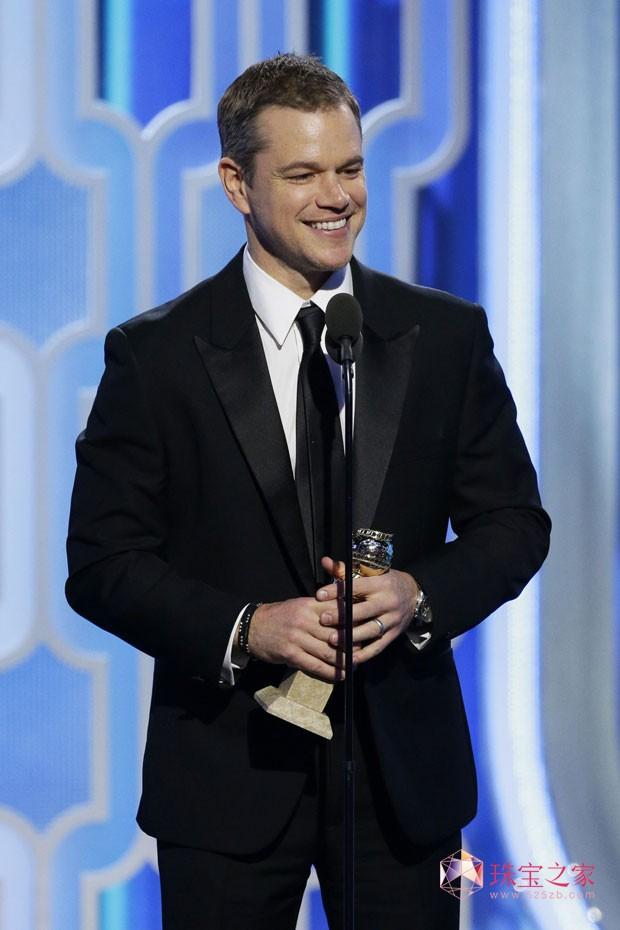 PIAGET伯爵与马特·达蒙(Matt Damon)共享2016金球奖荣耀时刻