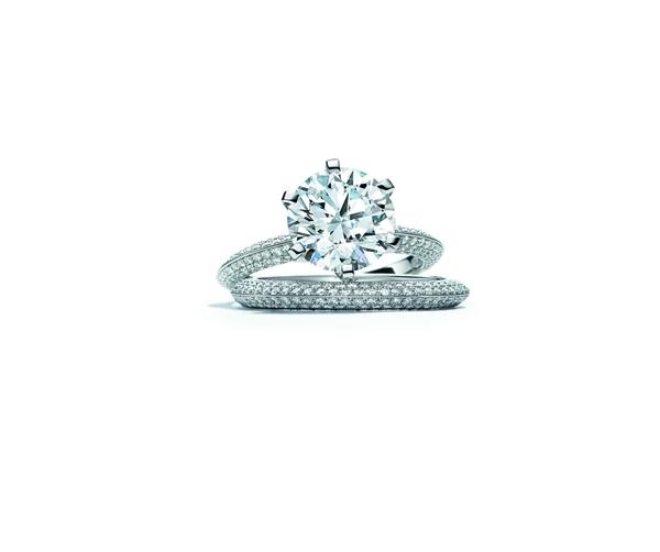 130周年限量版全钻The Tiffany® Setting蒂芙尼六爪镶嵌钻戒,限量130枚