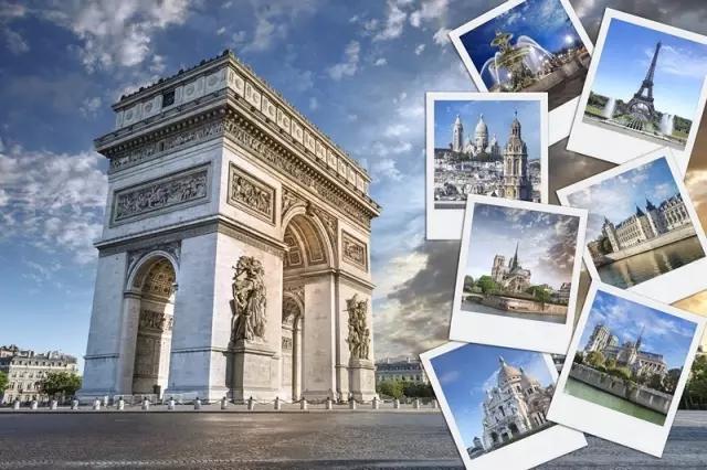 巴黎初体验&mdash;&mdash;凯旋门、埃菲尔铁塔、香榭丽舍大街、亚历山大三世桥、协和广场。</