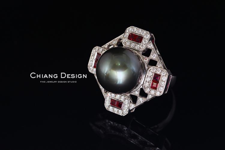 蒋滢珠宝设计作品《方圆》