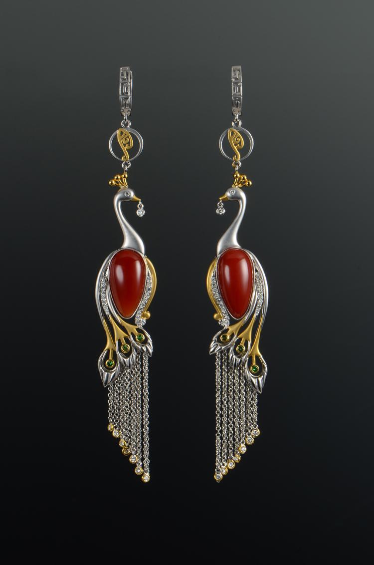 王月要 珠宝设计美学 中国风珠宝 珊瑚 吉祥 龙凤 孔雀 鹦鹉 牡丹 莲花 旗袍
