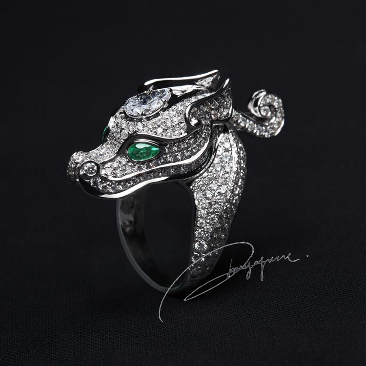 """张亚楠珠宝设计作品""""小龙女""""优雅、独立、勇敢又可爱的蛟龙"""