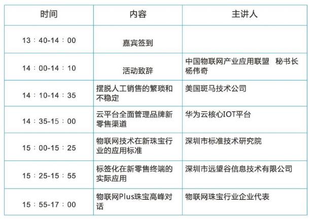 """""""大咖分享解决方案""""--2017中国物联网珠宝行业应用论坛预告"""
